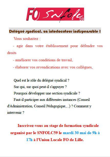 Formation Délégué syndical